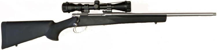 Howa 1500 Hogue Stock Stainless Steel Rifle Package